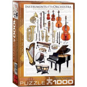 Instruments of the Orchestra 1000 piece jigsaw puzzle   (pz)